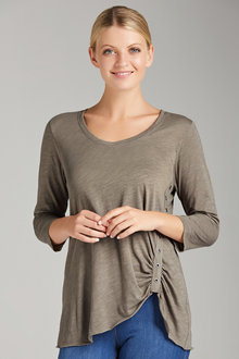 Capture Tee With Eyelet Trim - 210145