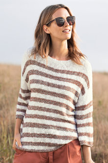 Capture Textured Stripe Sweater