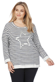 Plus Size - Beme Long Sleeve Sloppy Joe