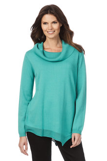 W.Lane Angled Hem Knitted LS Tunic