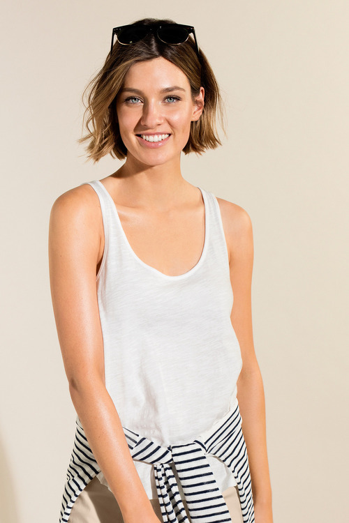 Emerge Cotton Slub Tank