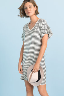 Emerge Ruffle Sleeve Tee Dress