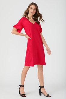 Emerge Ruffle Sleeve Tee Dress - 210275