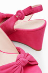Next Suede Twist Wedge Sandals
