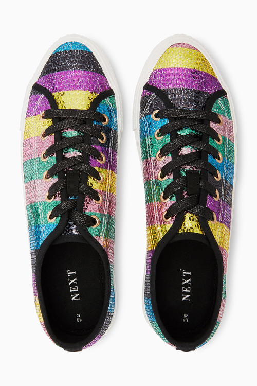 Next Sequin Trainers