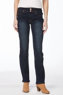 Rockmans Full Length Bootcut Double Button Jean