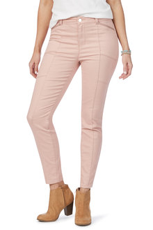 Rockmans Full Length Panelled Soft Touch Pant