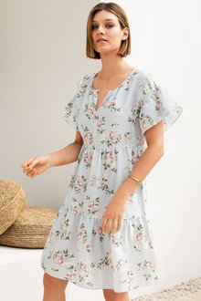 Emerge Tiered Linen Dress