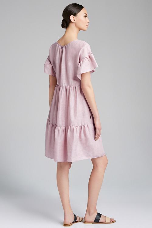 Emerge Tiered Linen Dress