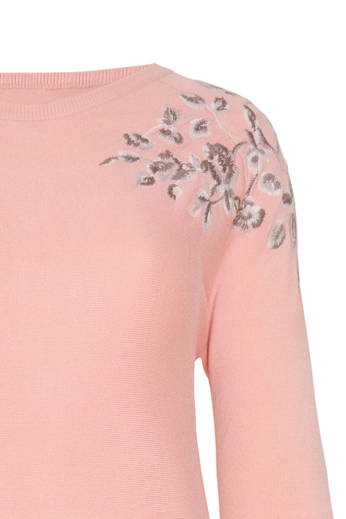 Together Embroidery Detail Sweater