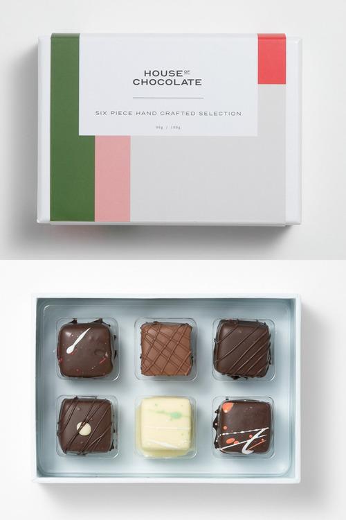 House of Chocolate Six Piece Chocolate Box