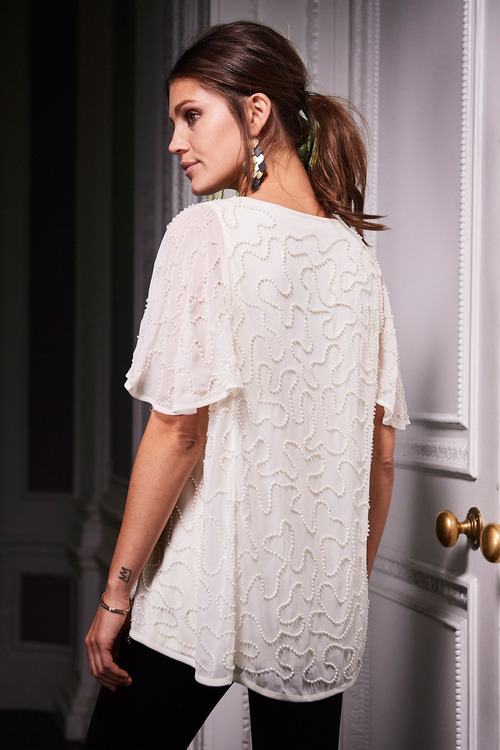 Together Pearl Beaded Top