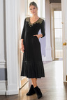 Together Embroidered Tiered Jersey Dress