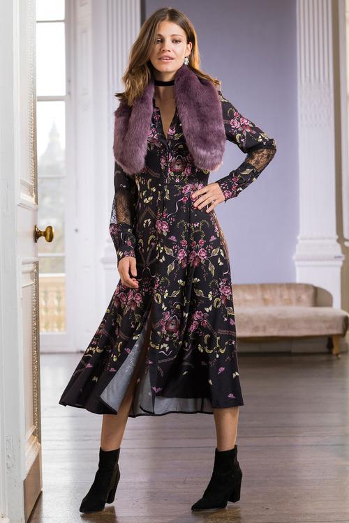 Together Lace Detail Shirt Dress