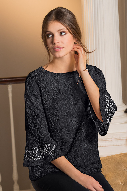 Together Beaded Lace Top