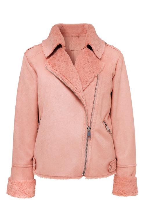Together Faux Fur Biker Jacket
