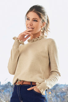 Together Frill Neck Sweater - 210414