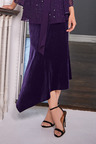 Together Asymmetric Velour Skirt