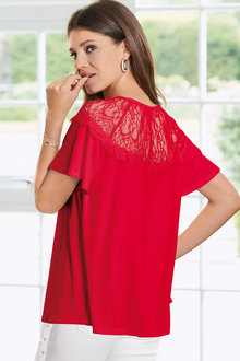 Together Lace Yoke Top - 210426