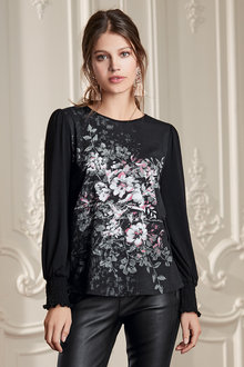 Together Placement Print Top - 210427