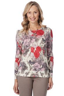 Noni B Katherine Printed Knit Jumper