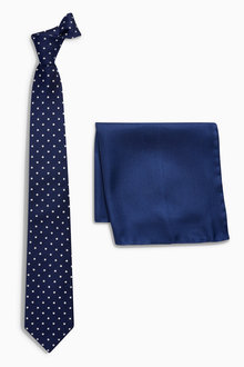 Next Signature Tie And Spot Pocket Square Set