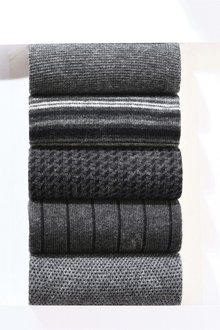 Next Grey Mixed Pattern Socks Five Pack