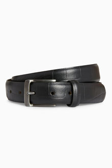 Next Leather Textured Belt
