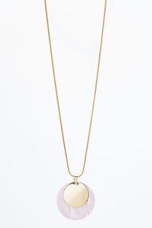 Next Resin Disc Pendant Necklace