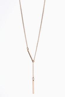 Next Bar Detail Y-Drop Necklace