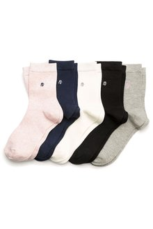 Next N Motif Ankle Socks Five Pack