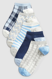 Next Multi Pattern Trainer Socks Five Pack