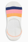 Next Rainbow Pattern Invisible Trainer Socks Five Pack