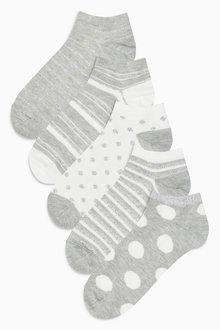Next Spot/Stripe Pattern Trainer Socks Five Pack