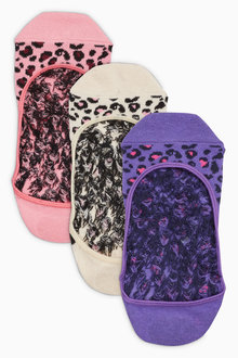 Next Bright Animal Pattern Footsies Three Pack