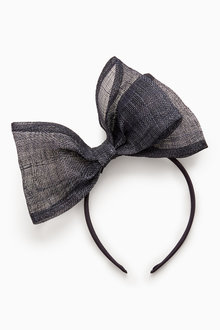 Next Navy Bow Fascinator