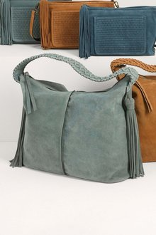 Next Suede Whipstitch Hobo Bag