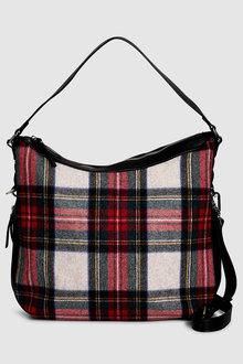 Next Tartan Hobo Bag