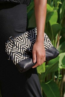 Next Leather Trimmed Clutch