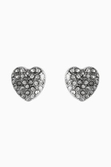 Next Jewelled Heart Studs