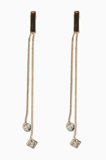 Next Jewelled Tassel Drop Earrings