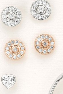 Next Jewelled Disc Stud Earrings