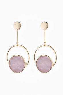 Next Lilac Circle Resin Drop Earrings