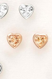 Next Delicate Heart Stud Earrings