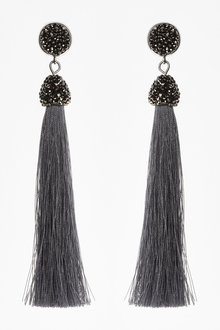 Next Clip-On Tassel Drop Earrings