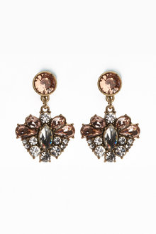 Next Clip-On Jewelled Drop Earrings