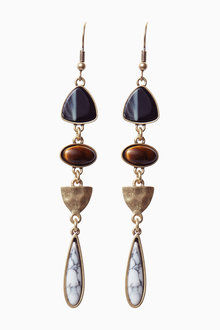 Next Stone Effect Drop Earrings