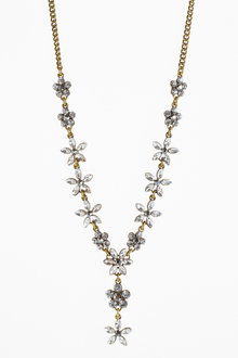 Next Floral Jewelled Necklace