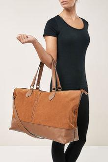 Next Leather Weekender Bag