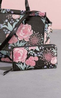 Next Floral Print Zip Around Purse